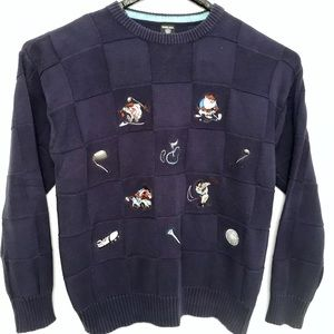 Warner Bros Studio 1997 TAZ Devil Golf Sweater - M